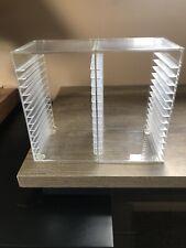 CD Storage Box Rack Holder Stacking Tray Shelf DVD Disk Case Space Organizer