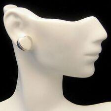 Sterling Silver 925 Sweet Heart Love Pierced Earrings Vintage Nice Quality