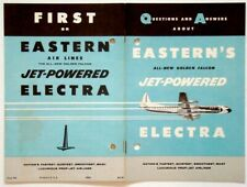 1959 Vintage EASTERN AIRLINES Advertising Booklet LOCKHEED L-188 ELECTRA Plane
