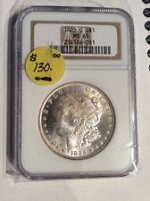 1885o Ngc Morgan Silver Dollar Ms65 Old Slab 90%