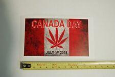 """Canada Weed Cannabis Pot Flag CANADA DAY LEGAL car bumper sticker 4.25"""" x2.5"""""""