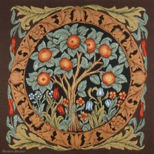 Wall Jacquard Woven Medieval Tapestry Orange Tree William Morris Antique Decor