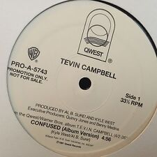 """TEVIN CAMPBELL CONFUSED 12"""" 1991 PRINCE QWEST PRO-A-5743 DJ PROMO"""