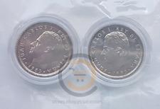 1983+1985 España 10 Pesetas Sin Circular 2 Monedas en Capsula Moneda UNC