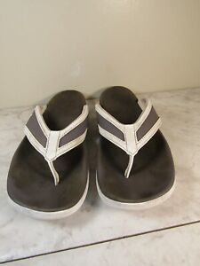Adidas Gray Comfort Synthetic Flip Flop Thong Sandals Men's Size 8