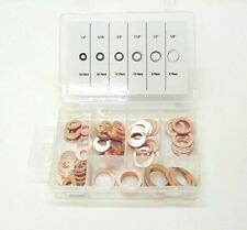 "Fits Nissan 81PC 1/4"" - 5/8"" Brake Hose Caliper Copper Sealing Washer Kit"
