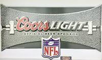 "Coors Light NFL Football Logo Metal Beer Sign 28x16"" - Brand New!"