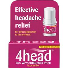 4HEAD STICK EFFECTIVE HEADACHE RELIEF 3.6G