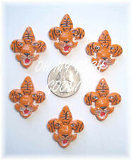 6Pc Tiger Fleur De Lis Flatback Resins 4 Football Cheer Bow Hairbow Center