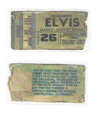 ELVIS PRESLEY live concert REPLICA ticket stub June 26, 1977 Indianapolis IN
