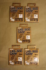 MIDDY LAS - SOO CARP HOOKS TO NYLON, HAIR SYSTEM BARBLESS SIZE 8,10,12,14,16 NEW