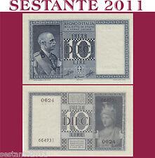 ITALIA ITALY  10 LIRE IMPERO 1939 XVIII DITTATURA FASCISTA  P. 25c , FDS- / UNC-