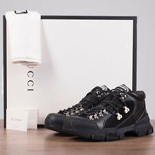 GUCCI x SEGA 980$ Flashtrek Sneakers In Black Canvas, Leather & Suede