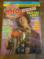 Doctor Who weekly magazine no 22  march 12th 1980  marvel comics