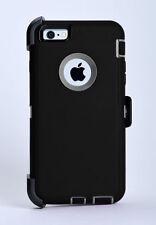 iPhone 6 Plus iPhone 6s Plus Case w/Belt Clip fit Otterbox Defender Black/Gray