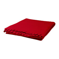 "IKEA Polarvide Fleece Throw Blanket 51 x 67"" RED Soft  DISC.  NEW FREE SHIP"