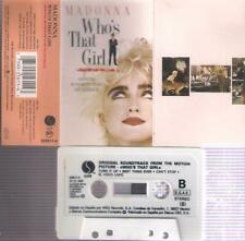 MADONNA  Who´s that Girl   RARE SPANISH  cassette   SPAIN