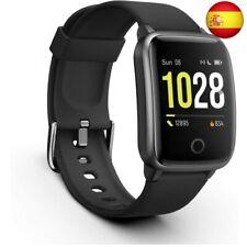 Vigorun Smartwatch Reloj Inteligente Hombre Mujer, Pantalla Táctil  (Negro)