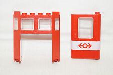 LEGO 4551 Krokodil Eisenbahn  Ersatzteile Tür und Front/Heckscheibe