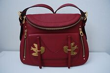 NWT MARC BY MARC JACOBS  NATASHA PETAL TO THE METAL BIRD SHOULDER BAG RED