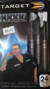 KEVIN Mc DINE  STONE GRIP TARGET STEEL TIP DARTS 24 GRAM 90%TUNGSTEN
