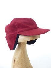 FREDRIKSON Red Fleece Cap Ear Flap Finland Small 57