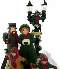 Victorian Dickens Christmas Carolers Illuminated and Musical Decoration