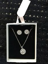 Primark Diamonte Necklace Earring Set New Xmas Gift