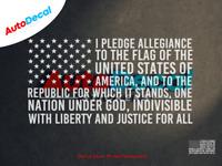 I Pledge Allegiance American Flag Window Decal Sticker Car Truck Vinyl USA #447