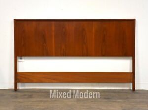 Danish Modern Teak Queen Headboard Bed Mid Century Modern