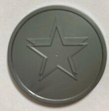 More details for silver grey plastic 35mm diameter token - bag of 125 - xmas event reward voting