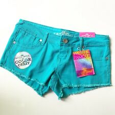 Almost Famous Women's Turquoise Shortie Short Pants Size 5