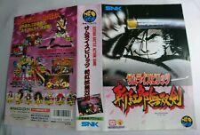 Neo geo aes Samurai Spirit 3 Jap insert Original