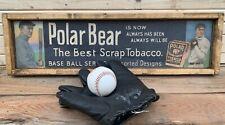 Terrific Vintage Style T206 Polar Bear Tobacco Baseball  Wooden Sign  Ty Cobb