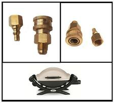 QUICK CONNECT GAS COUPLING easily disconnnect your hose from Weber Q BBQs !!!