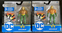 """DC Heroes Unite Spin Master AQUAMAN 4"""" Figure RARE Orange Gold SUIT LOT OF 2"""