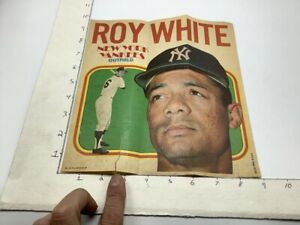 1970 Topps Pin-Ups Poster #14 of 24; RON WHITE new york yankees outfield