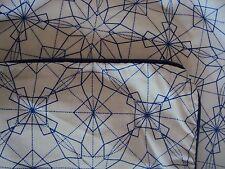 Bettwäsche Bezug Urbanara Pirna 200 x 200+2 Kissen 80 x 80 weiß blau Kaleidoskop