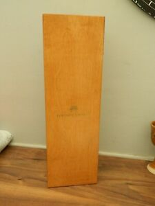 fortnum and mason wooden wine presentation / gift box