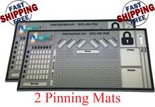 "2x  Pinning Mat - Locksmith - Lock Sport - Lock Picking 0.31"" X 11"" X 21"""