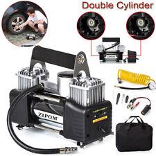 Double Cylinder 12v Car Air Compressor 150PSI Tyre Inflator Pump 80L/Min ZIPOM