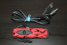 Playstation 3 ex-02s Wireless Headset Red / Black - Tested / Works. Ships Fast!