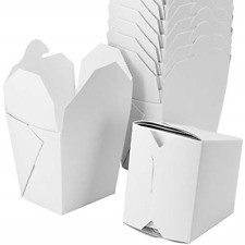 50-Count White 26 oz Chinese Take Out Boxes