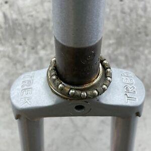 """Vintage Fork Trek Stamped Crown TALL 9"""" Lugged Steel 1"""" Threaded Road Bike 27"""""""