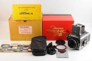 Autocollant Mint 】 Zenza Bronica S2 Dernier Modèle S2A + Nikkor P 75mm F/2.8 Box