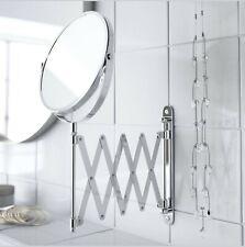 Make Up / shaving Magnifying Mirror Adjustable Round Wall Mount Bathroom
