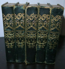 The Works of Oliver Goldsmith in 5 Volumes 1837 Miniature Set Gilt Leather