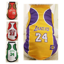 Large Extra Big Medium Small Dog Vest Clothes Pet Summer Sport Jersey Basketball