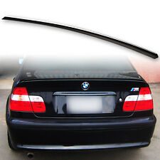 Fyralip Painted Trunk Lip Spoiler Wing Jet Black #668 For BMW E46 Sedan