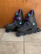 Rollerblade Lightning Sz 9 (43) Black Purple  *Great Condition* Inline Skates